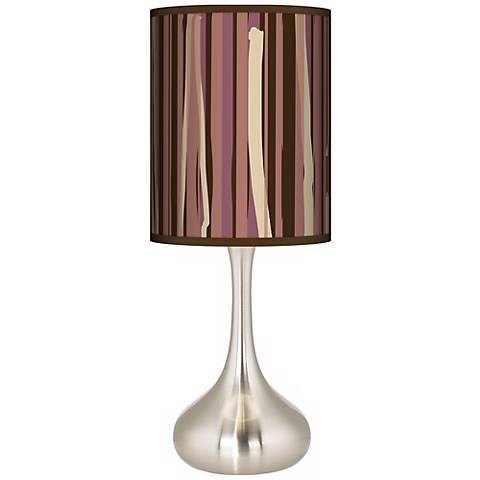 Kalahari Lines Giclee Droplet Table Lamp