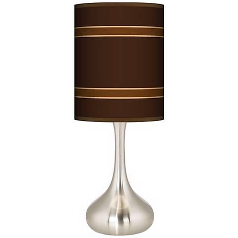 Saratoga Stripe Giclee Droplet Table Lamp K3334 P2506 Lamps Plus