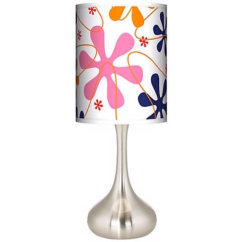 Retro Pink Giclee Droplet Table Lamp