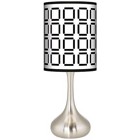 Open Grid Giclee Droplet Table Lamp