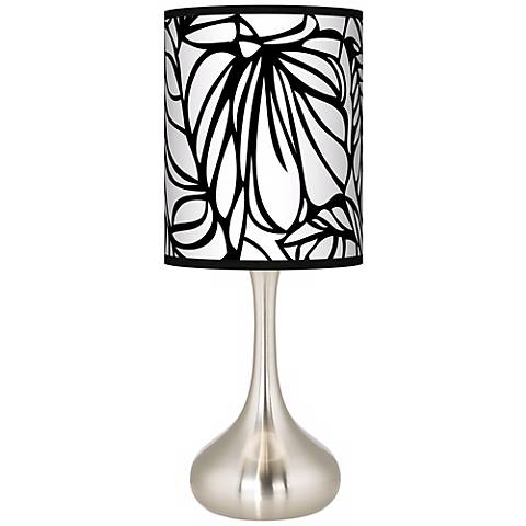 Jungle Moon Giclee Droplet Table Lamp