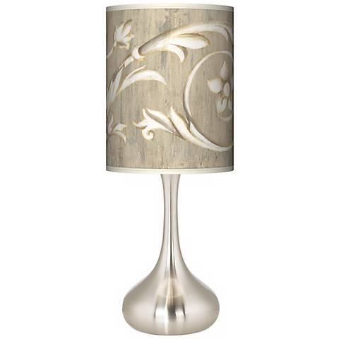Laurel Court Brushed Steel Court Droplet Table Lamp