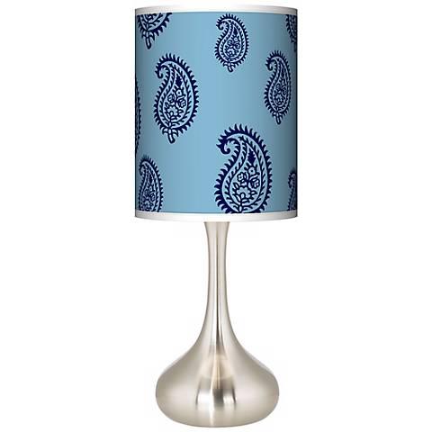 Paisley Rain Giclee Droplet Table Lamp