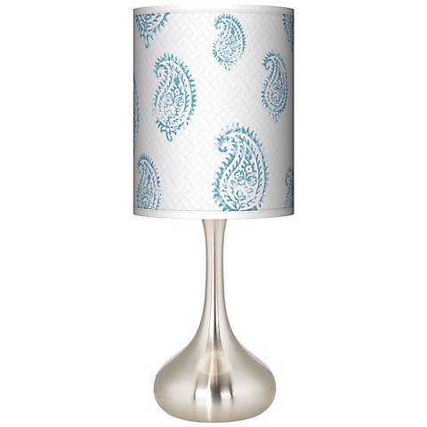 Paisley Snow Giclee Droplet Table Lamp