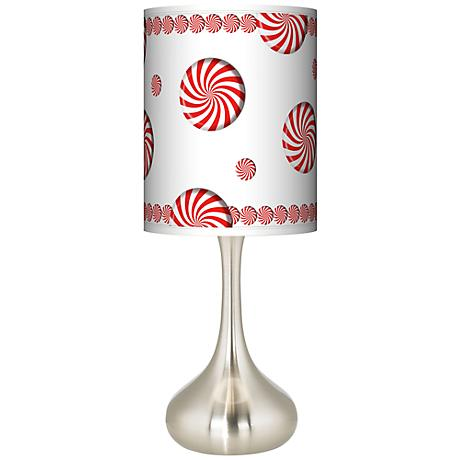 Peppermint Pinwheels Giclee Droplet Table Lamp
