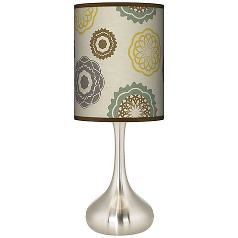 Ornaments Linen Giclee Droplet Table Lamp
