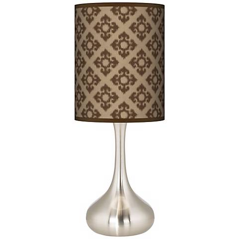 Grevena Giclee Pattern Shade Droplet Table Lamp