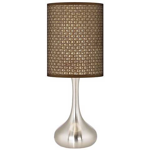 Interweave Giclee Droplet Table Lamp