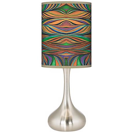Exotic Peacock Droplet Table Lamp