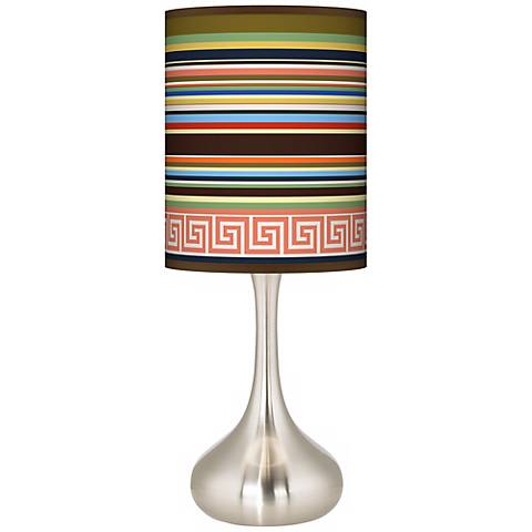 Island Party Time Giclee Droplet Table Lamp