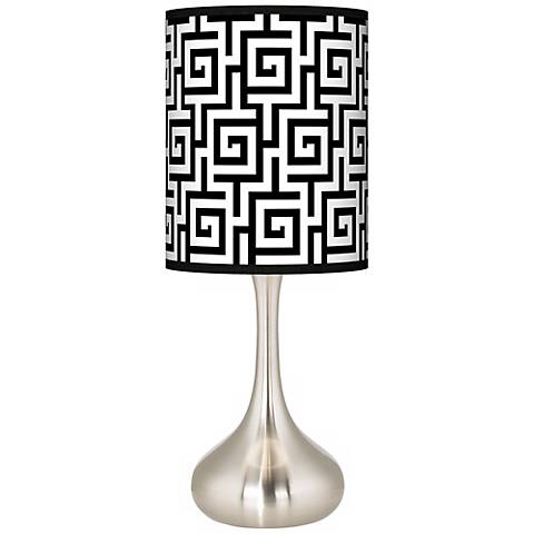 Greek Key Giclee Droplet Table Lamp