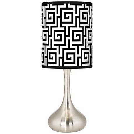 Greek Key Giclee Droplet Table Lamp