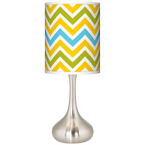 Citrus Zig Zag Giclee Droplet Table Lamp