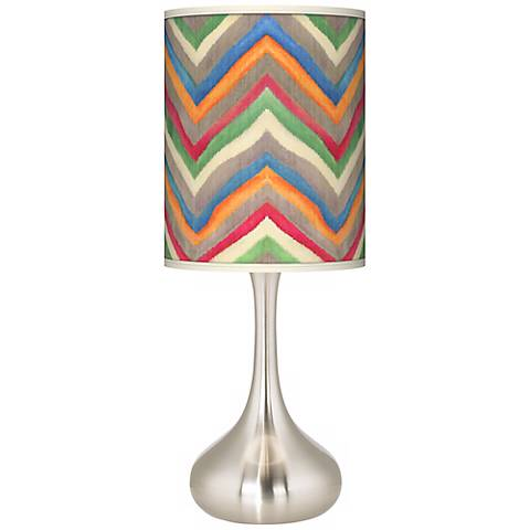 Canyon Waves Giclee Droplet Table Lamp