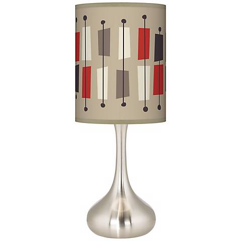 Bounce Giclee Droplet Table Lamp