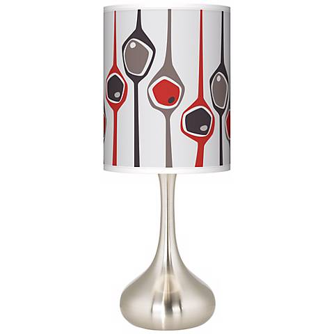 Shutter Giclee Droplet Table Lamp