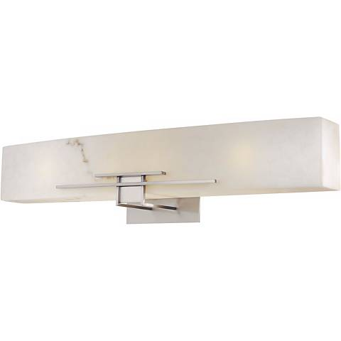 "Alabaster Dust 30"" Wide Bathroom Wall Light"