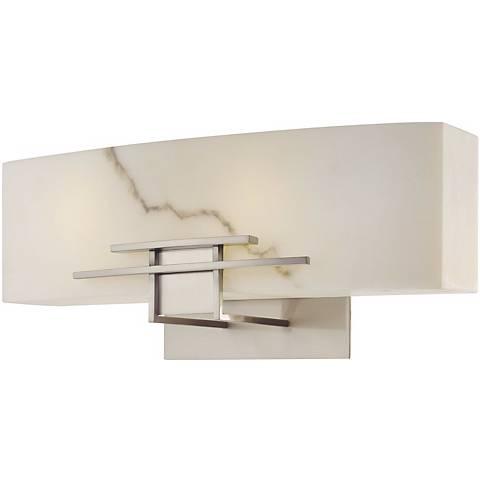 "Alabaster Dust 16"" Wide Bathroom Wall Light"