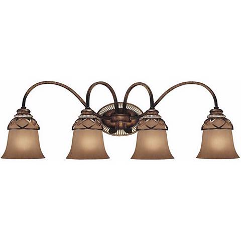 """Aston Court Collection 31 1/2"""" Wide Bathroom Wall Light"""