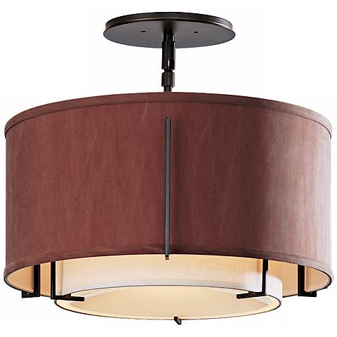 """Exos Collection Dual-Shade 16 1/4"""" Wide Ceiling Light"""