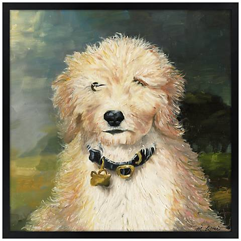 "Favorite Friend 26"" Square Black Giclee Wall Art"