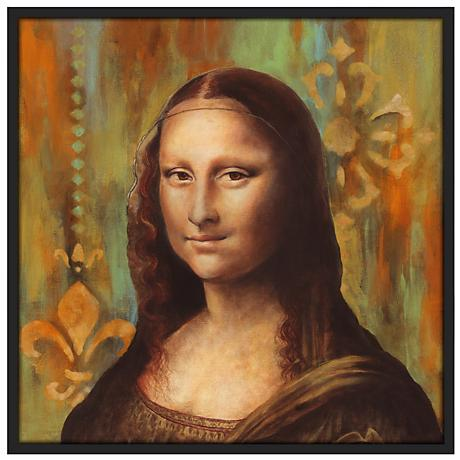 "Florentine 37"" Square Black Giclee Wall Art"
