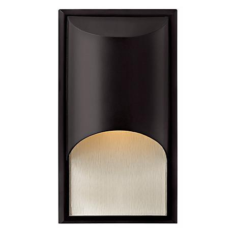 "Hinkley Cascade Black 14 1/2"" High Outdoor Wall Light"