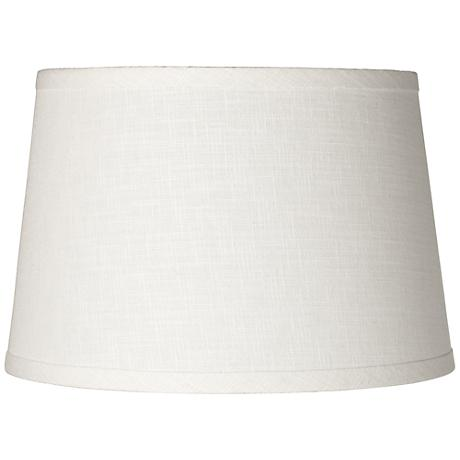 white linen drum lamp shade 10x12x8 spider k4850. Black Bedroom Furniture Sets. Home Design Ideas