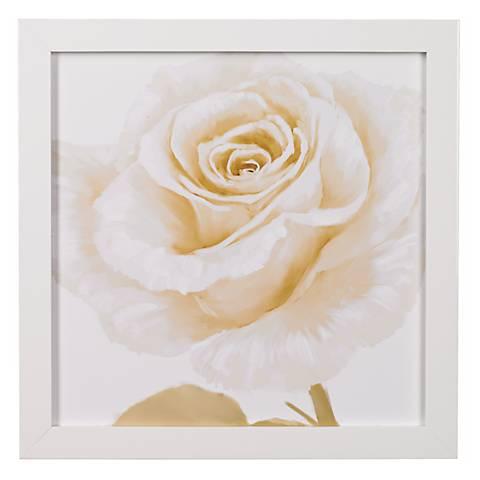 "White Roses Closeups A Framed 24"" Square Wall Art"