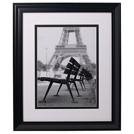 """Eiffel Tower Benches Glass Covered 24"""" High Print"""