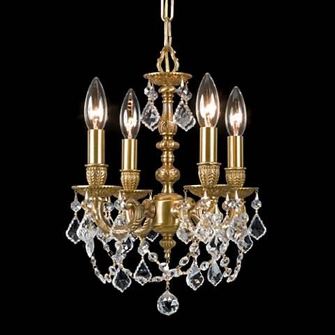 Mirabella Aged Brass 4-Light Crystal Chandelier