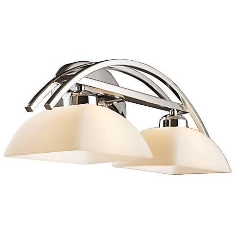 Arches Collection Polished Chrome 2-Light Bath Bar