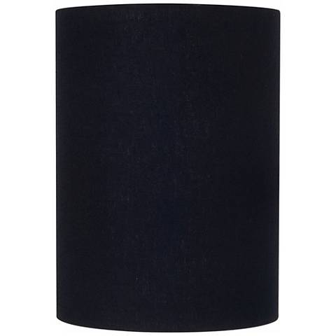 Black Linen Cylinder Lamp Shade 8x8x11 (Spider)
