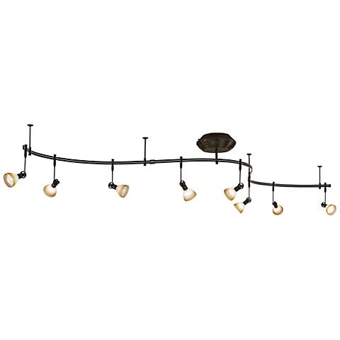 George Kovacs Bronze 8-Light  Scavo Glass Track Light Kit