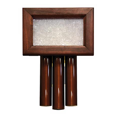 Traditional Mahogany with Seeded Glass Door Chime