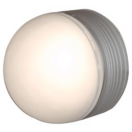 MicroMoon Satin Nickel Outdoor Ceiling or Wall Light