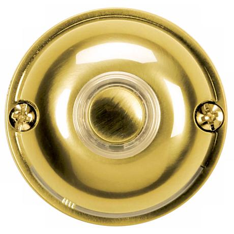"Polished Brass 2"" Round LED Doorbell Button"