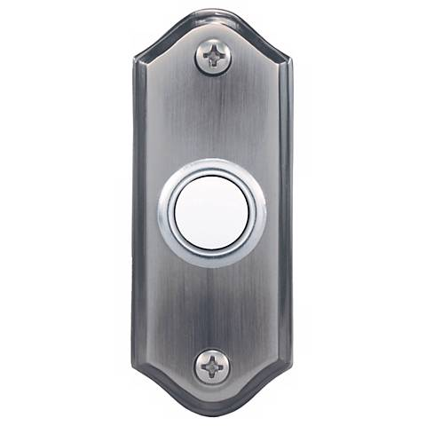 Pewter Lighted Push Button Doorbell Button
