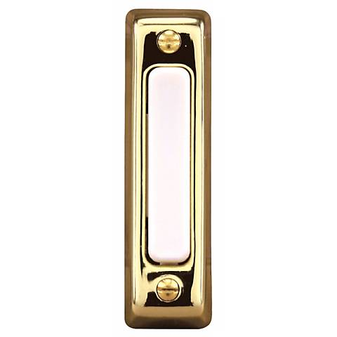 Basic Series Polished Brass Doorbell Button