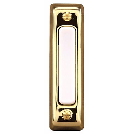 Basic Series Polished Brass Doorbell Button