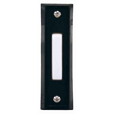 Basic Series Black Finish with White Bar Doorbell Button
