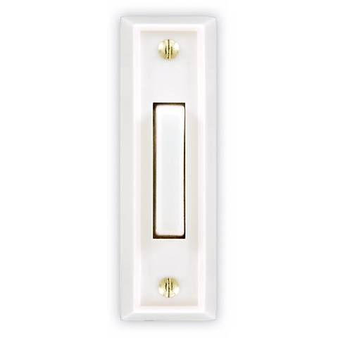 Basic Series White Finish with White Bar Doorbell Button