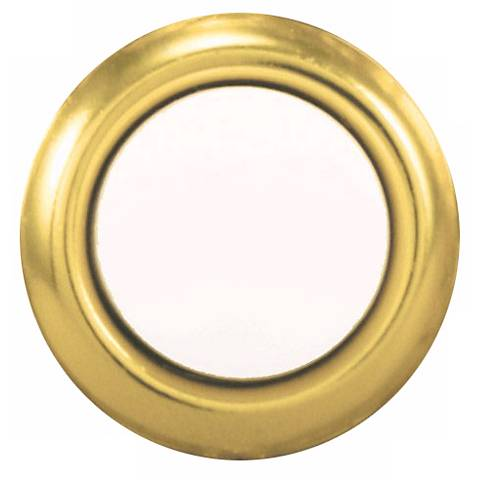 Gold and Pearl Finish Round Doorbell Button Insert