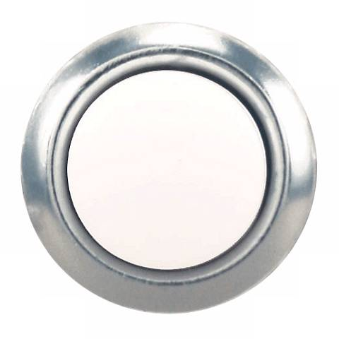 Silver and Pearl Finish Round Doorbell Button Insert