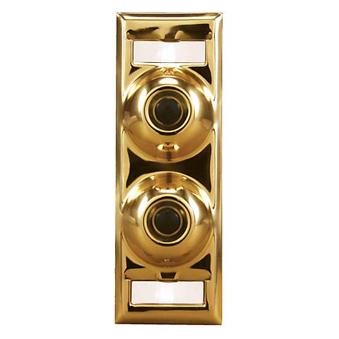 Two-Family Polished Brass Doorbell Button