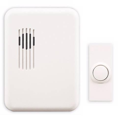 Modern White Finish Wireless Plug-In Door Chime