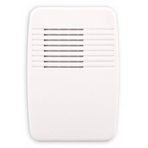 "Modern Off White Wireless 3 1/2"" Wide Door Chime Receiver"