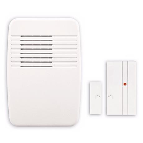 White Entry Alert Plug-In Door Chime