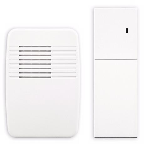 White Finish Indoor Door Chime Extender