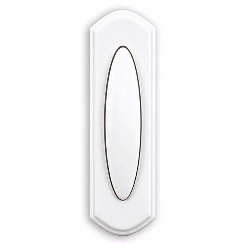 White Finish Surface Mount Wireless Doorbell Button